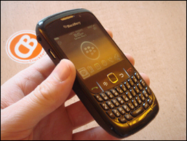 A BlackBerry that's really black