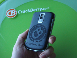 The faux leather back with CrackBerry Coveroo is Hawt!