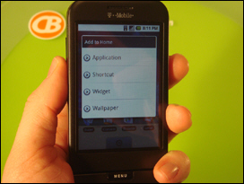 Holding on the homescreen allows you to add widgets, change wallpaper, create shortcuts, etc.