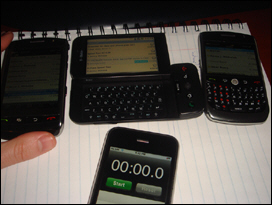 Gmail definitely wasn't PUSH over EDGE. Emails were two minutes delayed over the BlackBerry.