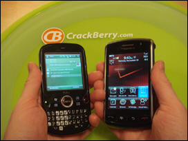 On the Go or Stop and Use Smartphones? The Treo Pro and Storm side by side.