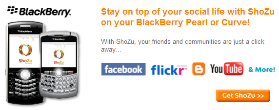 ShoZu for BlackBerry