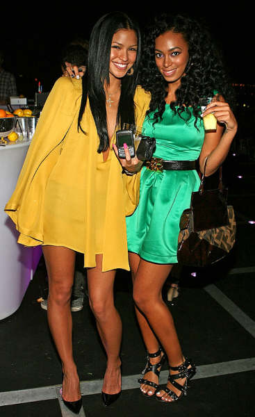 Cassie and Solange Knowles