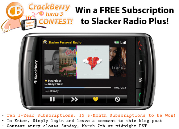 Win a Subscription to Slacker Radio Plus!