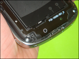 Pull off the battery cover. Look at the bottom left corner. Note the fork.