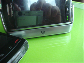 BlackBerry Storm 9530 in Storm 9530 Charging Pod.