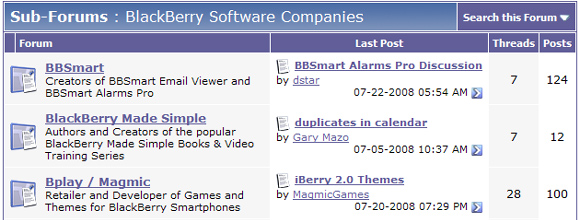 BlackBerry Company Forums!