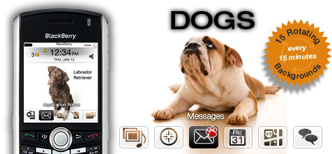 Dogs Theme for BlackBerry