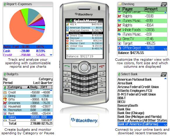 SplashMoney for BlackBerry