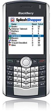 SplashShopper for BlackBerry