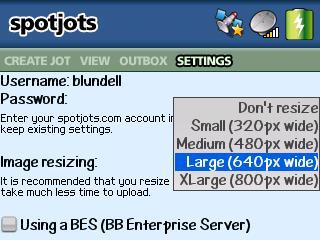 SpotJots for BlackBerry