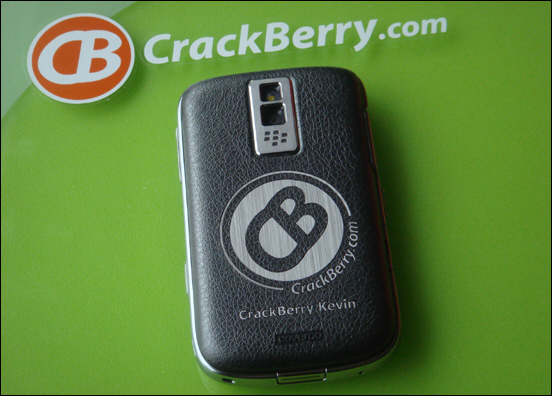 CrackBerry Coveroo with Brushed Stainless Silver Finish