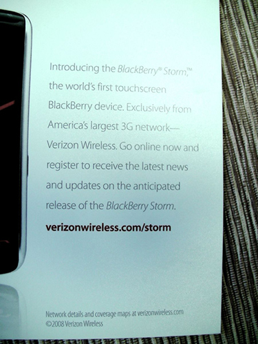 Verizon BlackBerry Storm