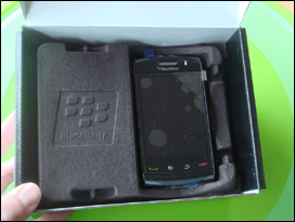 It's a BlackBerry Storm2! I guess it does exist afterall.