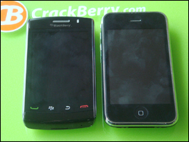 BlackBerry Storm2; Apple iPhone 3GS.