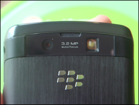 The BlackBerry Storm2 features a 3.2 megapixel camera with autofocus.