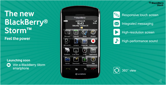 The New BlackBerry Storm - Feel The Power!