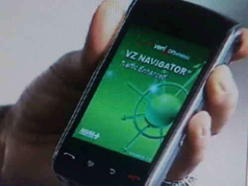 BlackBerry Storm with Verizon's Navigator Service
