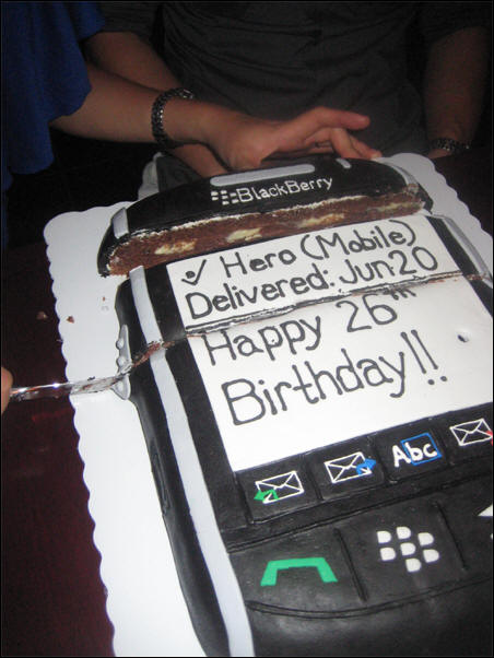 BlackBerry Storm Birthday Cake