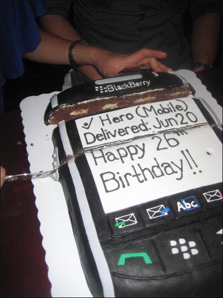 BlackBerry Storm Birthday Cake
