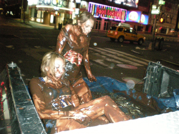 Pudding Wrestling for a BlackBerry Storm!