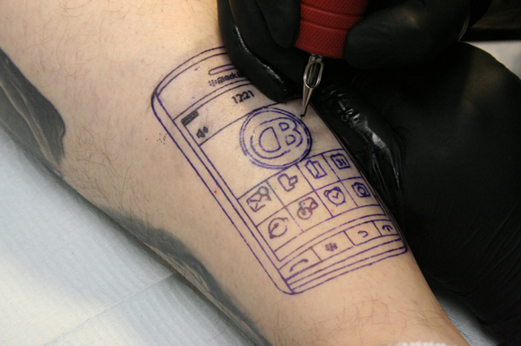 The Ultimate BlackBerry Storm Tattoo