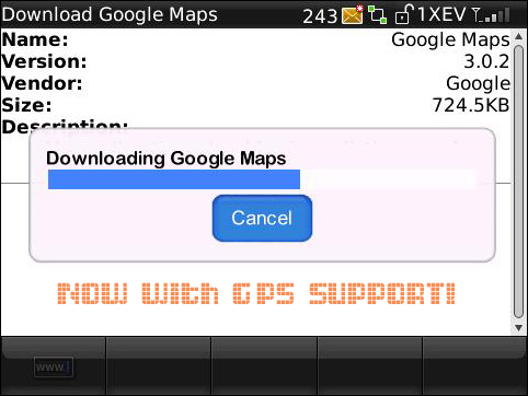Google Maps on Storm Now Supporting GPS!