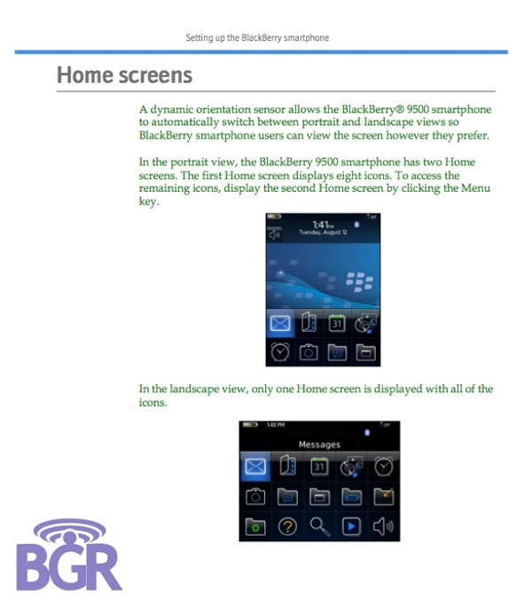 BlackBerry Storm User Guide