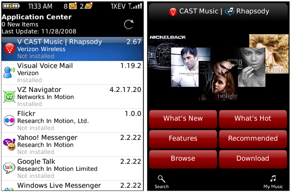 V CAST Now Available on the BlackBerry Storm