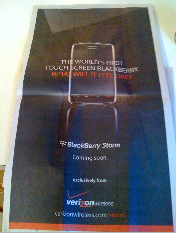 BlackBerry Storm in the WSJ