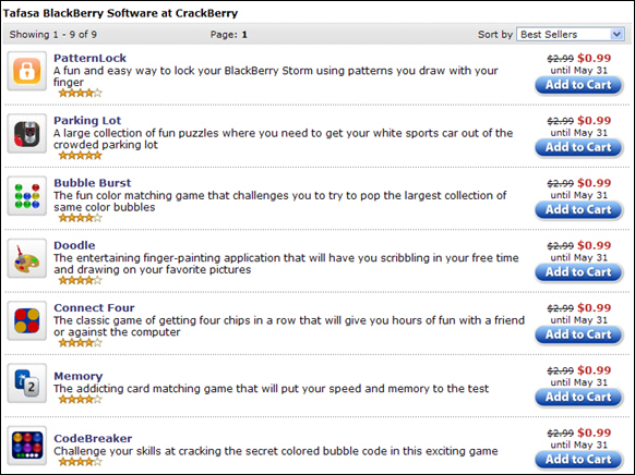 Tafasa BlackBerry Apps on Sale!