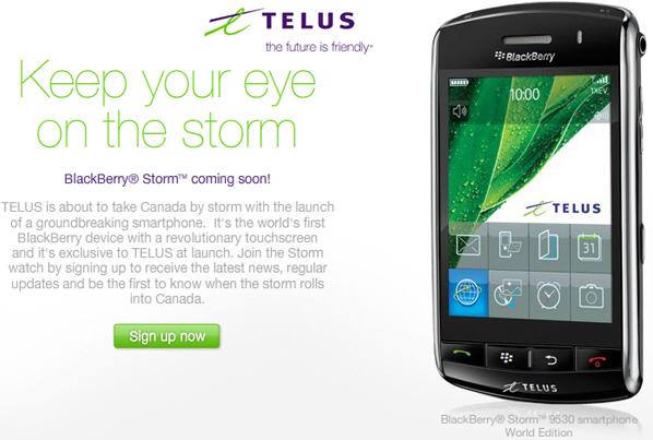 Updating your blackberry storm
