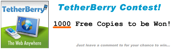 TetherBerry Contest - 1000 Free Copies to be Won!!