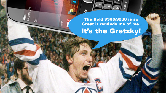 The Gretzky is the BlackBerry Bold 9900 / 9930
