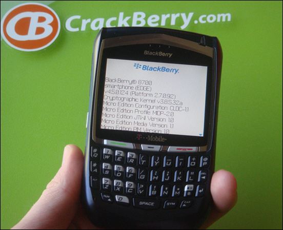T-Mobile BlackBerry 8700 Gets OS 4.5