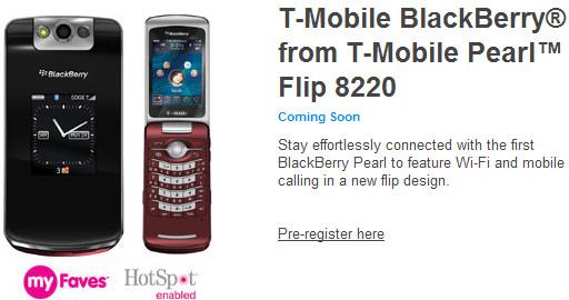T-Mobile Pearl Flip 8220