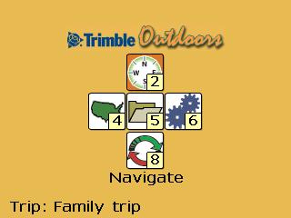 Trimble Outdoors Main Menu
