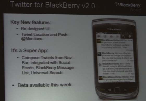 Twitter for BlackBerry v.2.0