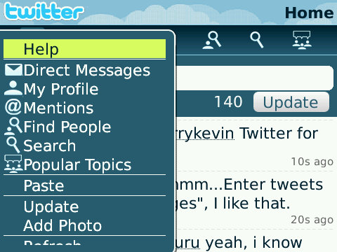Twitter for BlackBerry Smartphones