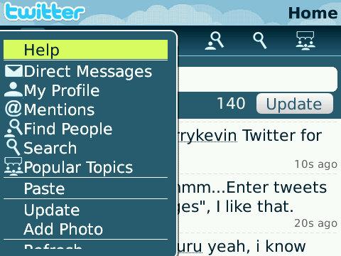 Twitter for BlackBerry Smartphones