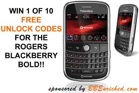 CONTEST: Win a FREE Unlock Code for the Rogers Bold | CrackBerry com