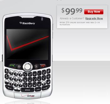 Cheap BlackBerry Smartphones from Verizon!