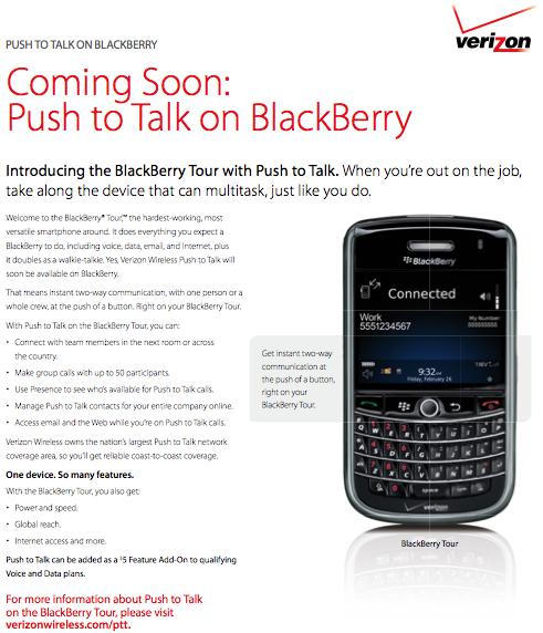 Verizon Push to Talk