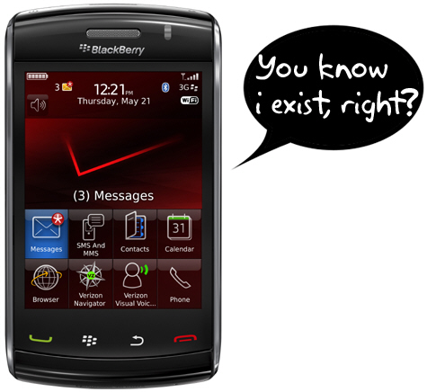 Where's Verizon's BlackBerry Storm2 Announcement?