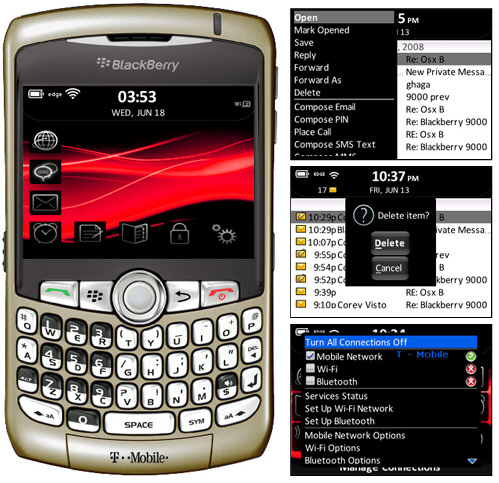 Visto Themes 9000s BlackBerry Theme