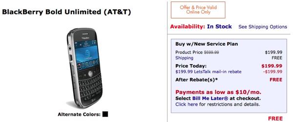 FREE BlackBerry Bold!
