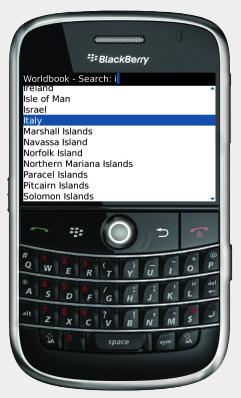 Worldbook: World Encyclopedia for BlackBerry