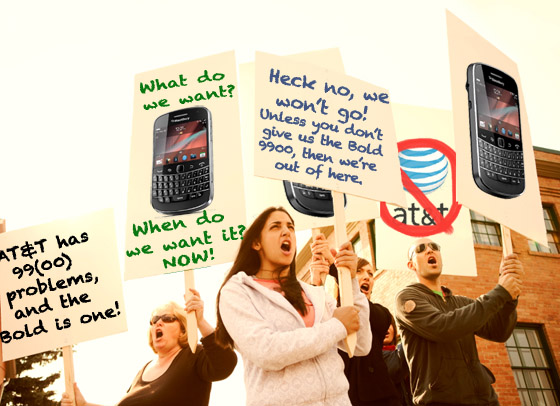 Hell No, We Won't Go, Give Us the BlackBerry Bold!