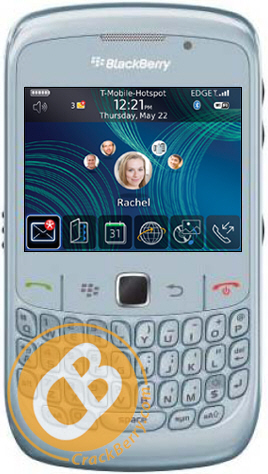 White BlackBerry Curve 8520