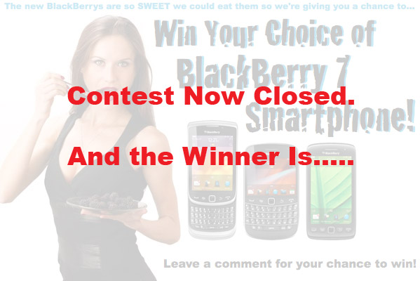 BlackBerry 7 Contest Winner!
